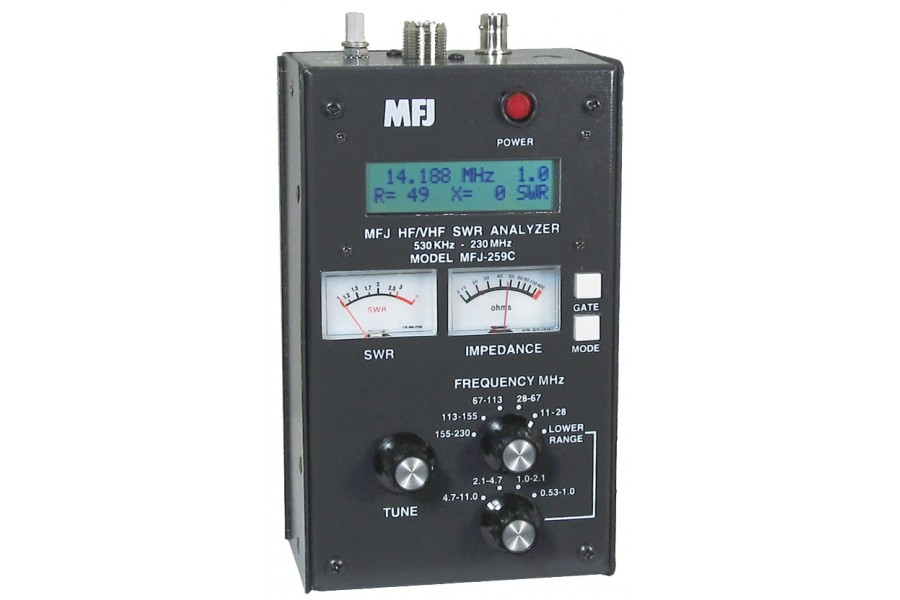 MFJ Enterprises MFJ-259C 530kHz - 230 MHz SWR Antenna Analyzer